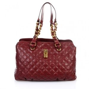 Marc Jacobs Anabela Quilted Tote Bordeaux